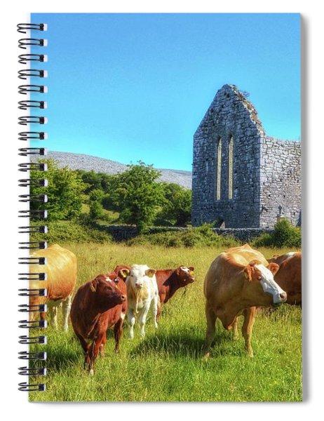 Ancient Cows Spiral Notebook