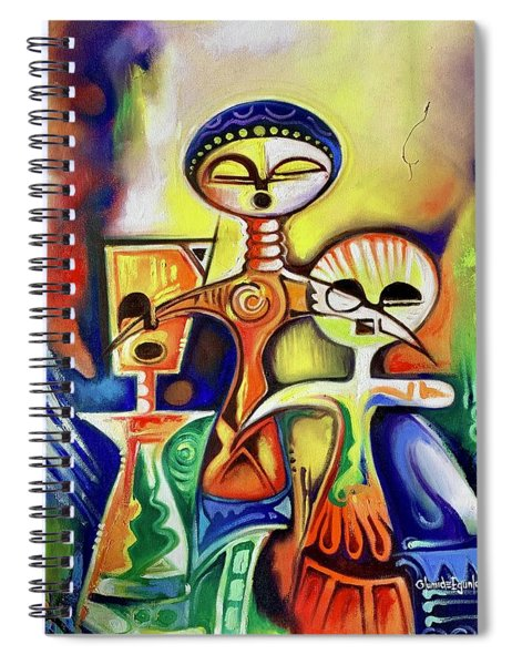 Ancient Figures Spiral Notebook