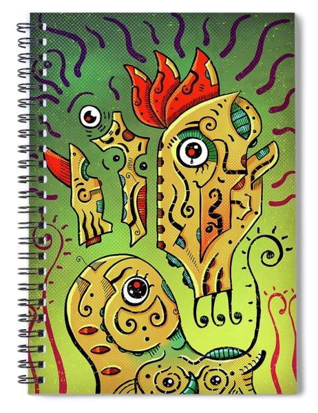 Ancient Spirit Spiral Notebook by Sotuland Art