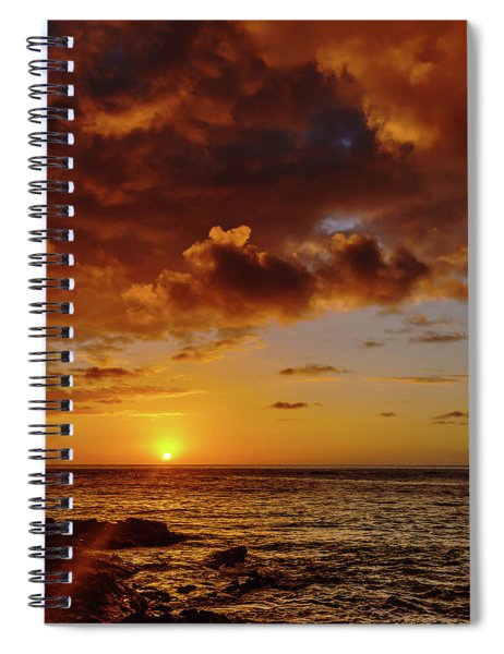 And Then The Sun Set Spiral Notebook