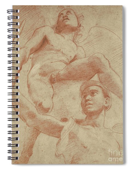 Angel And A Figure Representing The Planet Mars Spiral Notebook