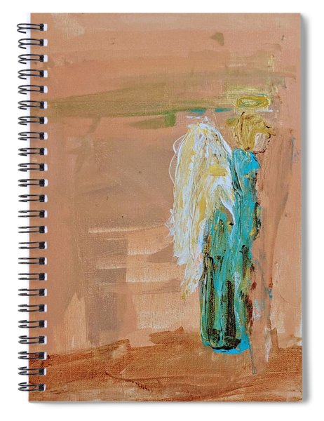 Angel Boy In Time Out  Spiral Notebook