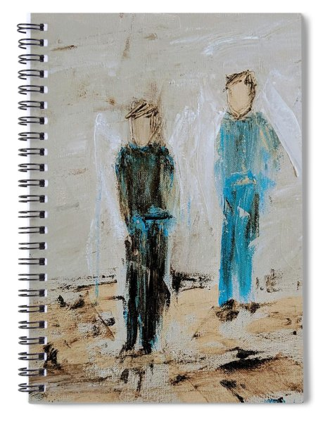 Angel Boys On A Dirt Road Spiral Notebook