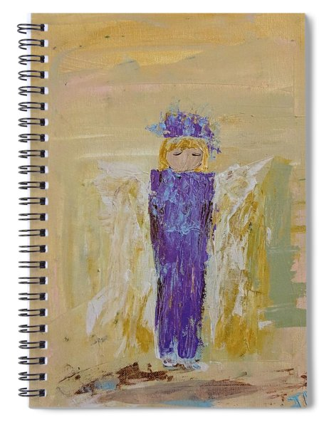 Angel Girl With A Unicorn Spiral Notebook