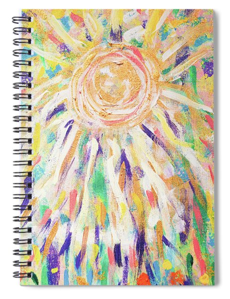 Angel In The Garden Spiral Notebook
