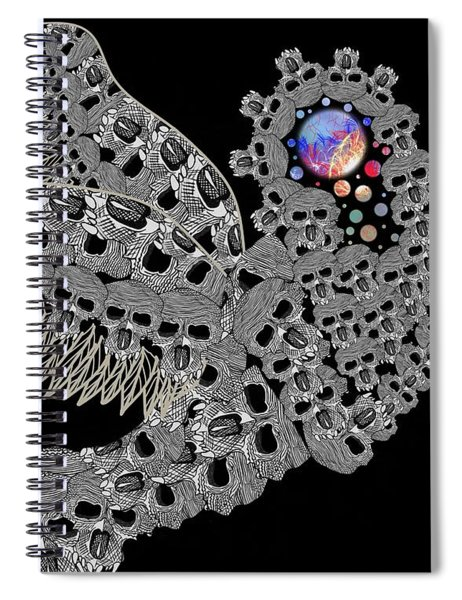 Angel Of Death Light With Worlds To Destroy Save Spiral Notebook