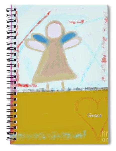 Angel Of Grace Spiral Notebook
