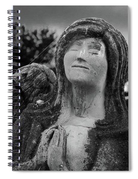 Angel Of Prayer Spiral Notebook