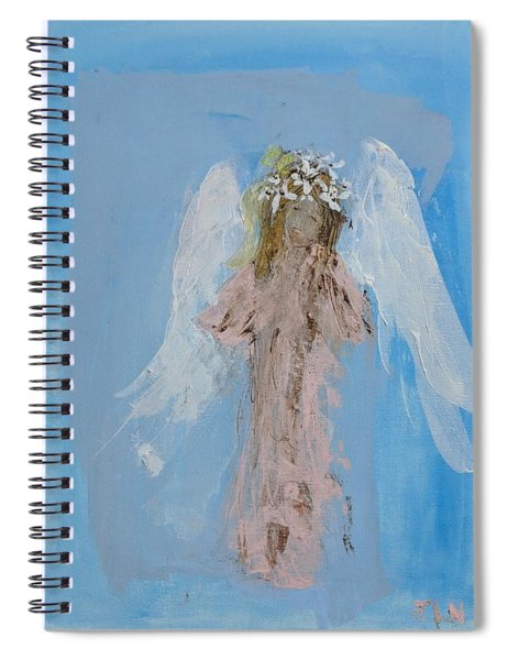 Angel With A Crown Of Daisies Spiral Notebook
