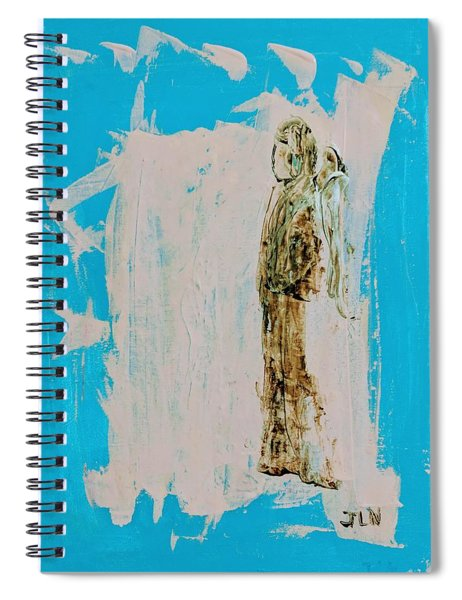 Angel With His Dog Wings Spiral Notebook