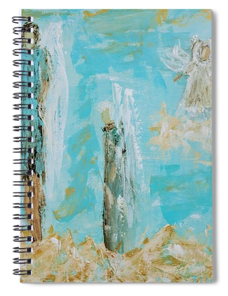 Angels Appear On Golden Clouds Spiral Notebook