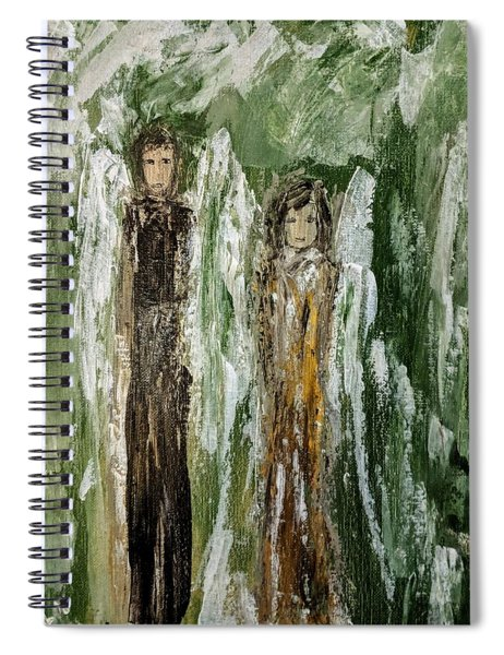 Angels For Support Spiral Notebook
