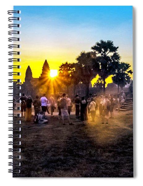 Angkor Wat At Sunrise - Siem Reap, Cambodia Spiral Notebook