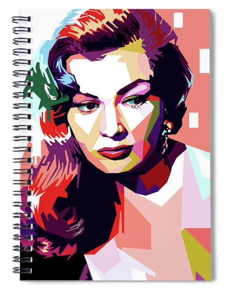 Anita Ekberg Pop Art Spiral Notebook