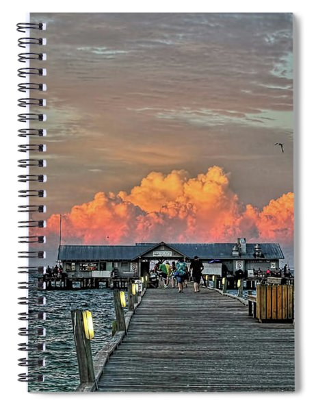 Anna Maria City Pier Spiral Notebook