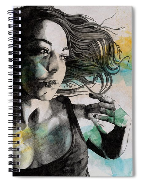 Anna - Sensual Woman Portrait, Sexy Girl In Tiny Tank Top Spiral Notebook
