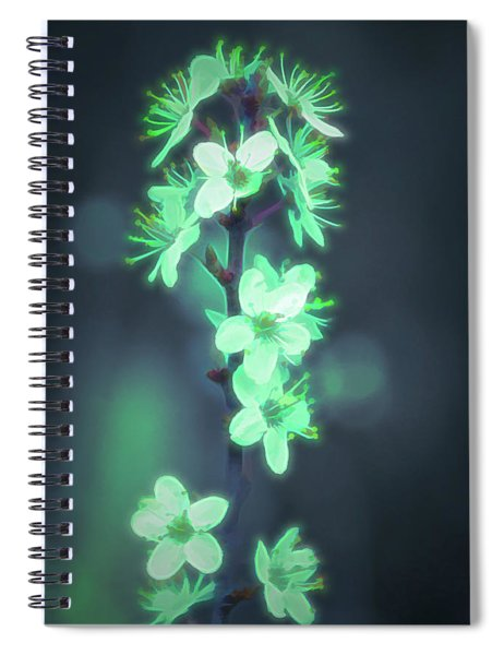 Another World - Glowing Flowers Spiral Notebook