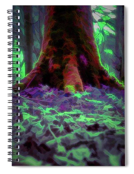 Another World - Overgrown Spiral Notebook by Scott Lyons