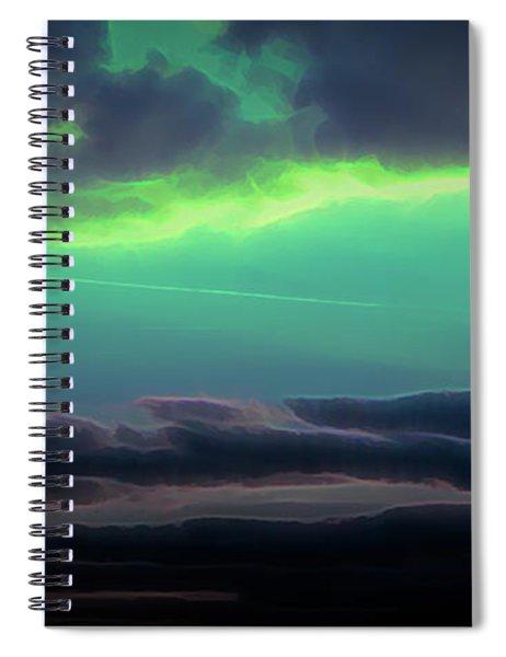 Spiral Notebook featuring the digital art Another World by Scott Lyons
