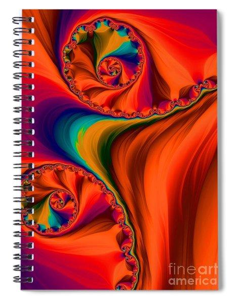 Antelope Canyon Orange Shadows Fractal Abstract Spiral Notebook by Rose Santuci-Sofranko