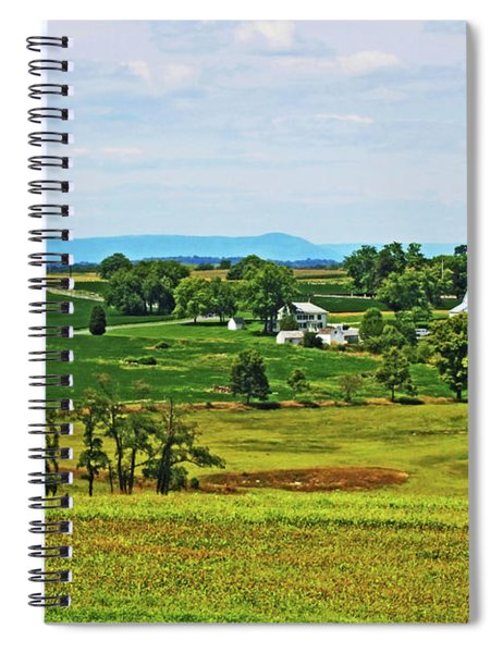 Spiral Notebook featuring the photograph Antietam Battlefield And Mumma Farm by Patti Whitten