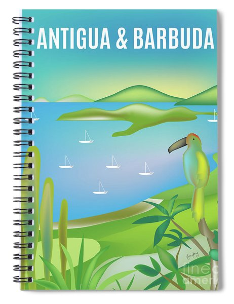 Antigua And Barbuda, Vertical Skyline Spiral Notebook