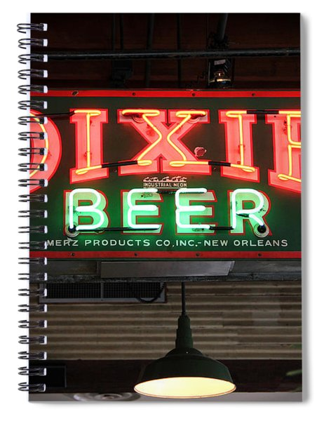 Antique Dixie Beer Neon Sign Spiral Notebook