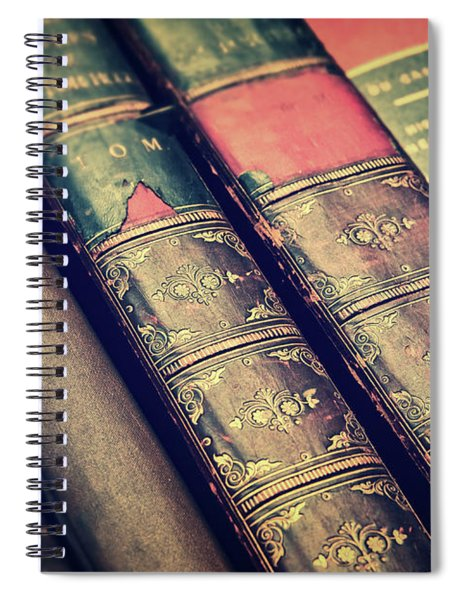 Antique Leather Books Spiral Notebook