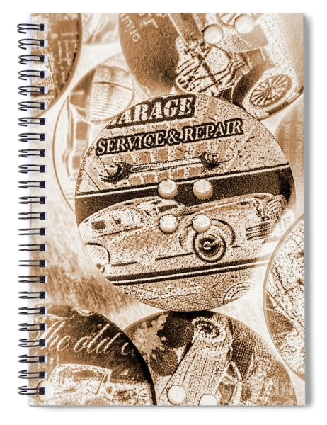 Antique Service Industry Spiral Notebook