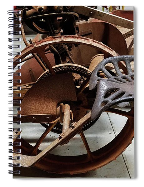 Antique Tractor Seat Spiral Notebook
