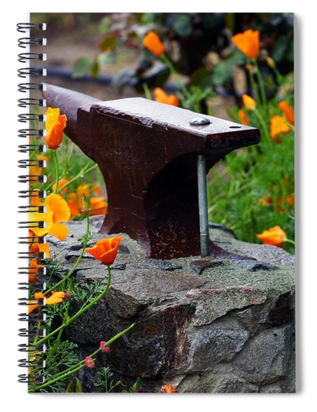 Anvil In The Poppies Spiral Notebook