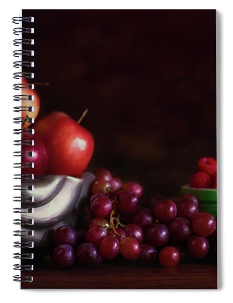 Apples With Grapes And Berries Still Life Spiral Notebook