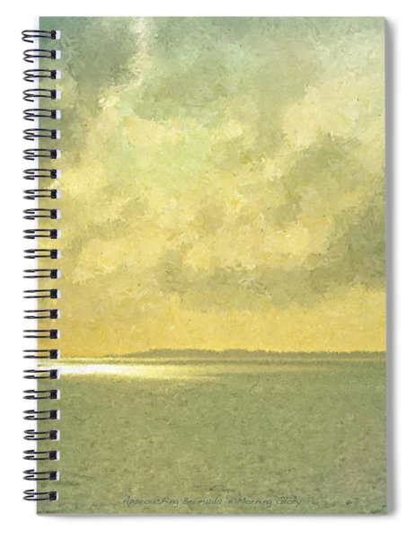 Approaching Bermuda In Morning Glory Spiral Notebook