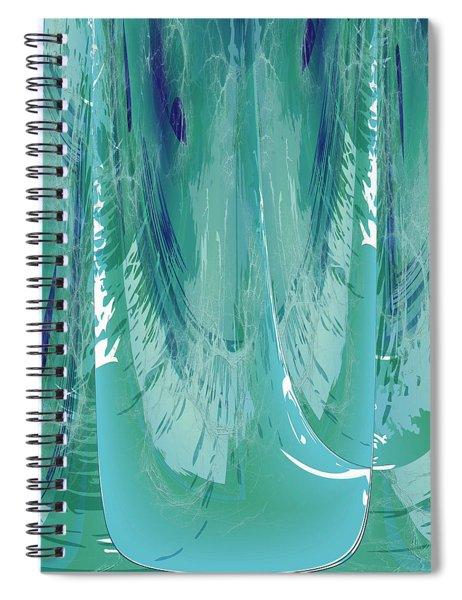 Aqua Abstract Flow Spiral Notebook