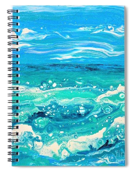 Aqua Seafoam Spiral Notebook