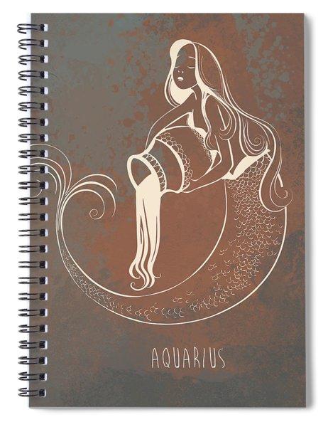 Aquarius Spiral Notebook