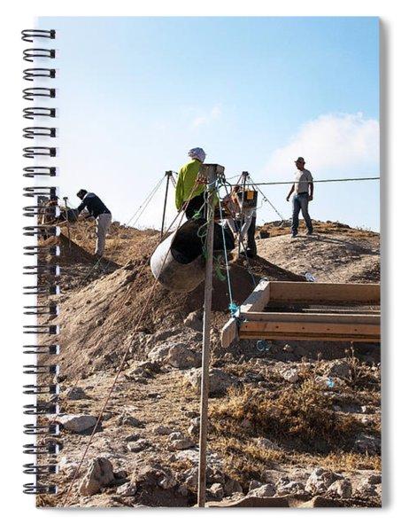Arabic Ruins At Tall Hasban Spiral Notebook by Mae Wertz