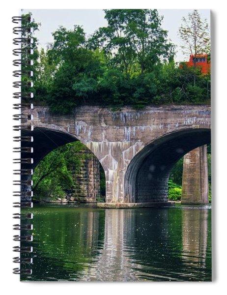 Arched Train Bridge   Spiral Notebook