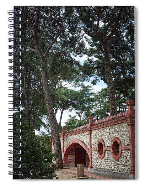 Architecture At The Gardens Of Cecilio Rodriguez In Retiro Park - Madrid, Spain Spiral Notebook