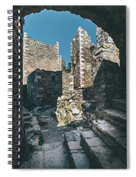 Architecture Of Old Vathia Settlement Spiral Notebook