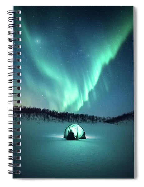 Arctic Camping Spiral Notebook