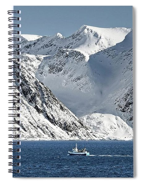 Arctic Landscape And Mountains Spiral Notebook