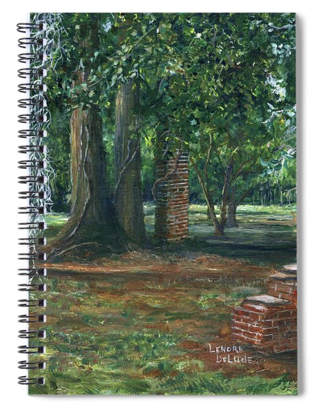 Ardoyne Ruins Near The Mansion, Houma, Louisiana Spiral Notebook