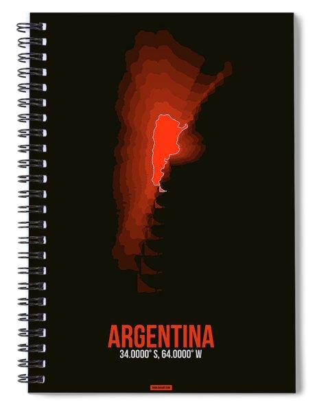 Argentina Radiant Map 3 Spiral Notebook