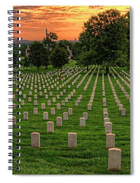 Arlington National Cemetery Sunrise Spiral Notebook