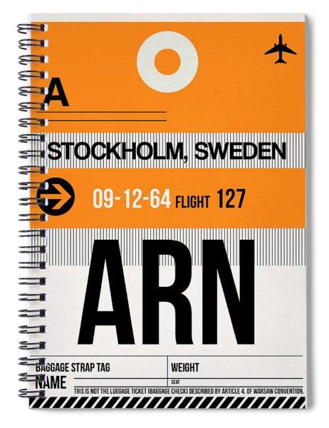 Arn Stockholm Luggage Tag I Spiral Notebook