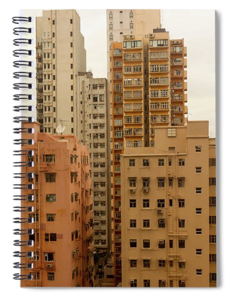 Arrangement Orange Building Rooftops Of The Buildings In Hong Ko Spiral Notebook