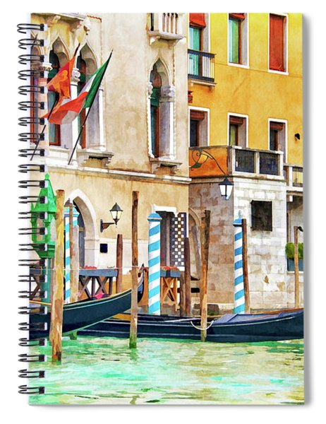 Arrival In Venice Spiral Notebook