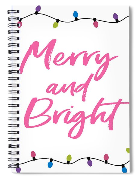 Merry And Bright -art By Linda Woods Spiral Notebook
