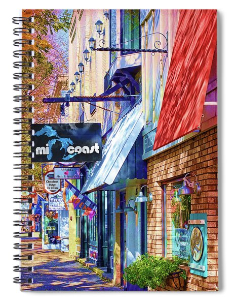 Art Coast Of Michigan Spiral Notebook